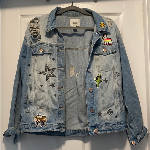 Forever 21 Jackets & Blazers - Patchwork Denim Jacket